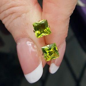 Jewelry - Peridot Cubic Zirconia Studs